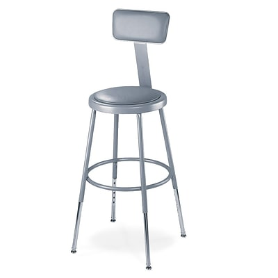National Public Seating 32.5 Round Task Stool, Gray, 4/Pack (6424HB4)
