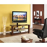 Whalen® 52 Flat Panel 3-in-1 Swivel TV Stand, Brown Cherry