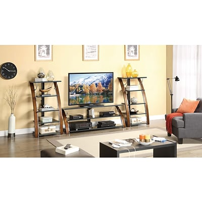 Whalen® 48 Audio/Video Tower With 5 Shelf, Brown Cherry