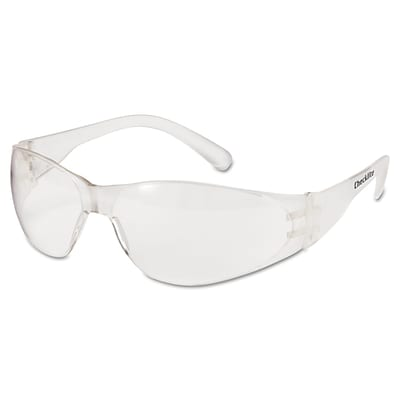 MCR® Safety Checklite® Scratch-Resistant Uncoated Safety Glasses; Clear Lens, 12/Box