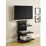Altra Furniture AltraMount Home Theater TV Stand for TVs Up to 60, Black Finish, BLACK
