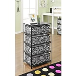 Altra Furniture 4-Bin Storage End Table, PATTERN/DESIGN
