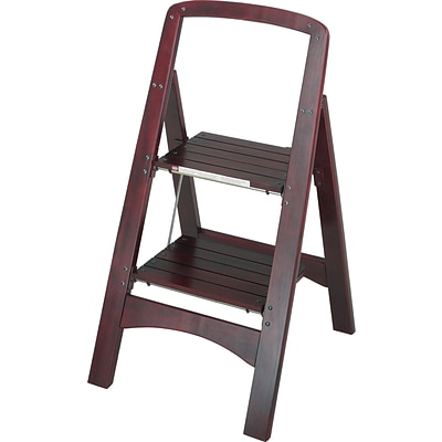 Cosco Products Cosco Two Step Rockford Wood Step Stool, MAHOGANY