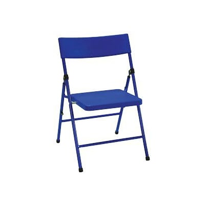 Cosco Products Cosco Kids Pinch-free Folding Chair Blue (4-pack), BLUE