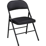 Cosco Products Cosco Fabric Folding Chair Black (4-pack), JET BLACK DIAMOND