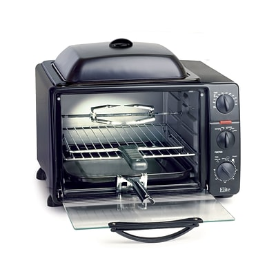 Maxi-Matic® Elite ProToaster Oven With Rotisserie and Grill Top; Gray