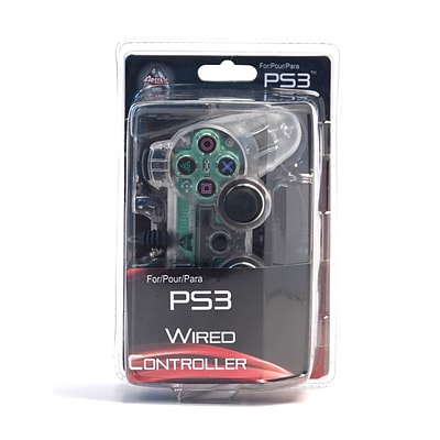 Arsenal Gaming PS3 Wired Controller With Lights; Clear