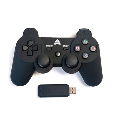 Arsenal Gaming PS3 Wireless Rubberized Controller; Black