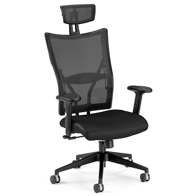 OFM™ Talisto Series Leather Executive Chair With Mesh High-Back, Black