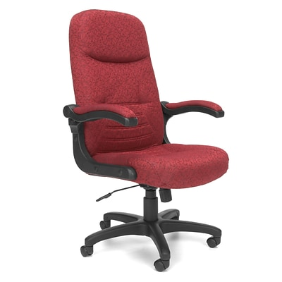 OFM 550-303 MobileArm Fabric High-Back Executive Chair with Adjustable Arms, Burgundy