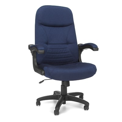OFM™ Fabric Executive/Conference Chair With Mobile Arms, Navy