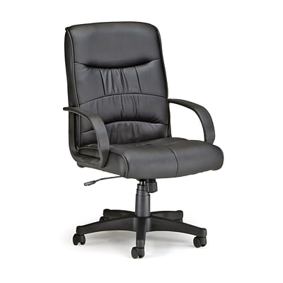 OFM™ Encore Series Leatherette Executive Chair With Mid-Back, Black