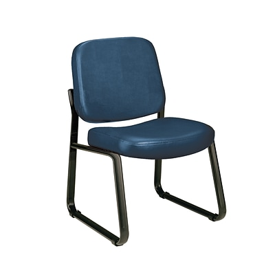 OFM Armless Guest and Reception Chair, Anti-Microbial/Anti-Bacterial Vinyl, Navy (405-VAM-605)