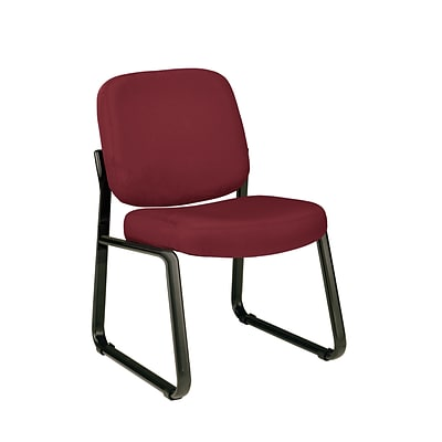 OFM™ Fabric Padded Guest/Reception Chair With Fully Upholstered Back, Wine