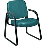 OFM™ Anti-Bacterial Vinyl Padded Guest/Reception Chair With Arms and Back, Teal