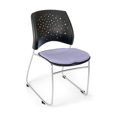 OFM™ Stars Series Fabric Stack Chair With Triple Curve Seat Design, Lavender