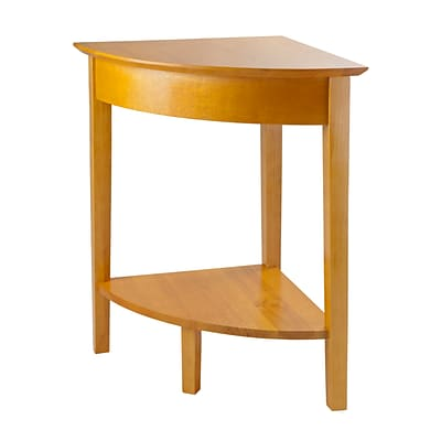 Winsome Studio Wood Corner Table, Honey