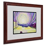Trademark Fine Art Whirling Sunrise, La Rocque 16 x 20 Wood Frame Art