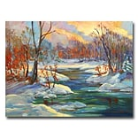 Trademark Fine Art Approaching Winter 35 x 47 Canvas Art