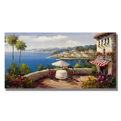 Trademark Fine Art Italian Afterernoon 24 x 47 Canvas Art