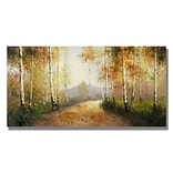 Trademark Fine Art Early Morning 18 x 32 Canvas Art