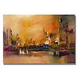 Trademark Fine Art City Reflections 18 x 24 Canvas Art