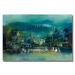 Trademark Fine Art City Reflections II 22 x 32 Canvas Art