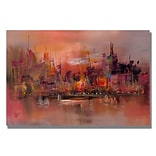 Trademark Fine Art City Reflections IV 35 x 47 Canvas Art