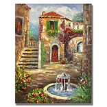 Trademark Fine Art Tuscan Cottage 26 x 32 Canvas Art