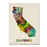 Trademark Fine Art California Map 35 x 47 Canvas Art