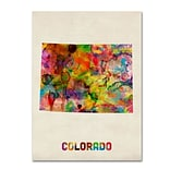 Trademark Fine Art Colorado Map 24 x 32 Canvas Art