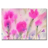 Trademark Fine Art Fushia Flowers 26 x 32 Canvas Art