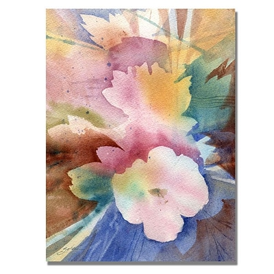 Trademark Fine Art White Floral Symphony 24 x 32 Canvas Art