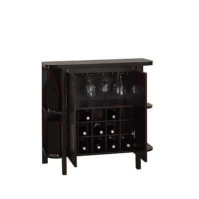 Monarch 36H Bar Unit With Bottle and Glass Storage, Cappuccino