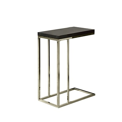 Monarch 25 Hollow Core/Chrome Metal Accent Table, Cappuccino