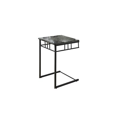 Monarch 26 x 18 x 18 Metal Snack Table, Grey/Charcoal