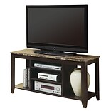 Monarch 48 Marble Top TV Console, Cappuccino