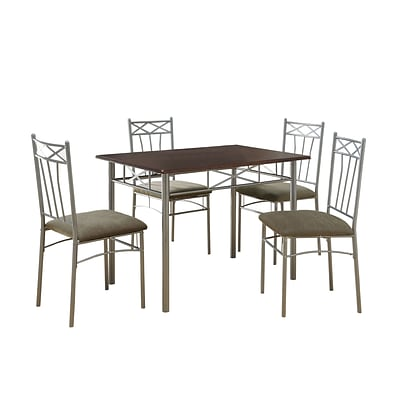 Monarch 5PC Dining Set, Cappuccino