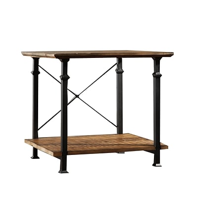 HomeBelle Vintage Industrial Modern End Table, Rustic