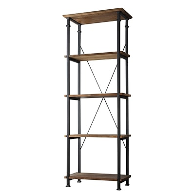 HomeBelle Vintage Industrial Modern Rustic Bookcase