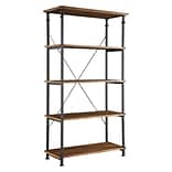 HomeBelle Vintage Industrial 40 Modern Rustic Bookcase