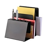 STEELMASTER® Pen and Note Holder, 3 compartments, Black (26494004)
