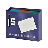MMF Industries™ STEELMASTER® Soho Collection™ Wall File Basket With Dry Erase/Pen and Magnet, Blue
