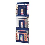 MMF Industries™ STEELMASTER® Soho Collection™ Magazine Rack With 6-Pocket, Blue