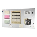 MMF Industries™ STEELMASTER® Soho Collection™ 14(H) x 30(W) Magnetic Board, Steel/Silver