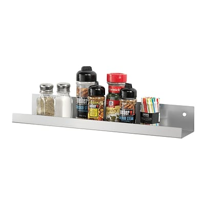 MMF Industries™ STEELMASTER® Soho Collection™ Metal Display Shelf, Silver