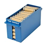 MMF Industries™ Porta-Count® Extra-Capacity Rolled Coin Storage Tray, Blue