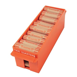 MMF Industries™ Porta-Count® Extra-Capacity Rolled Coin Storage Tray, Orange
