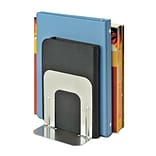 MMF Industries™ STEELMASTER® Soho Collection 5 Economy Bookend, Silver