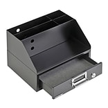 MMF Industries™ Soho Collection™ Docking Station, Black, 4 Compartments